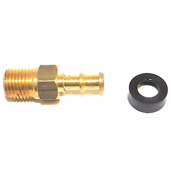 Big A Service Line 3-74444 Brass Hose Fitting Connector, 1/4