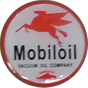 Mobiloil Pegasus Round Enamel / Metal Pin Badge
