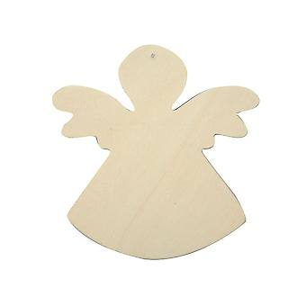 6 Wooden Angel Shapes to Decorate - 12cm | Wooden Shapes for Crafts