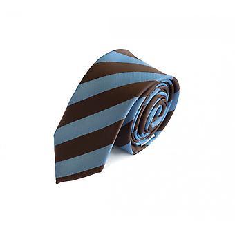 Schlips Krawatte Krawatten Binder 6cm blau hellblau braun gestreift Fabio Farini