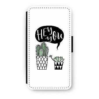 iPhone XS Flip Case - Hey you cactus