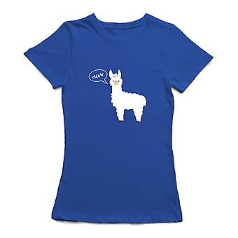 Llama Meow Graphic Design Women's T-shirt