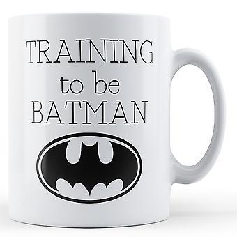 Entrenando para ser Batman - taza impresa