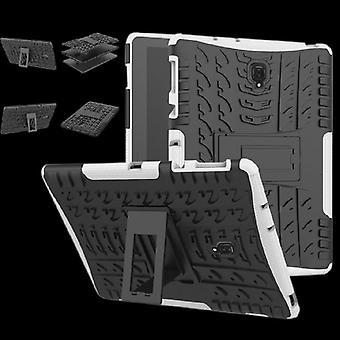 Caso de la cubierta protectora exterior híbrido blanco de Samsung Galaxy ficha S4 10.5 T830 T835 bolsa