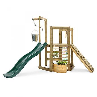 Playset - Discovery Woodland Treehouse Outdoor Playset with Kids Slide, Wind