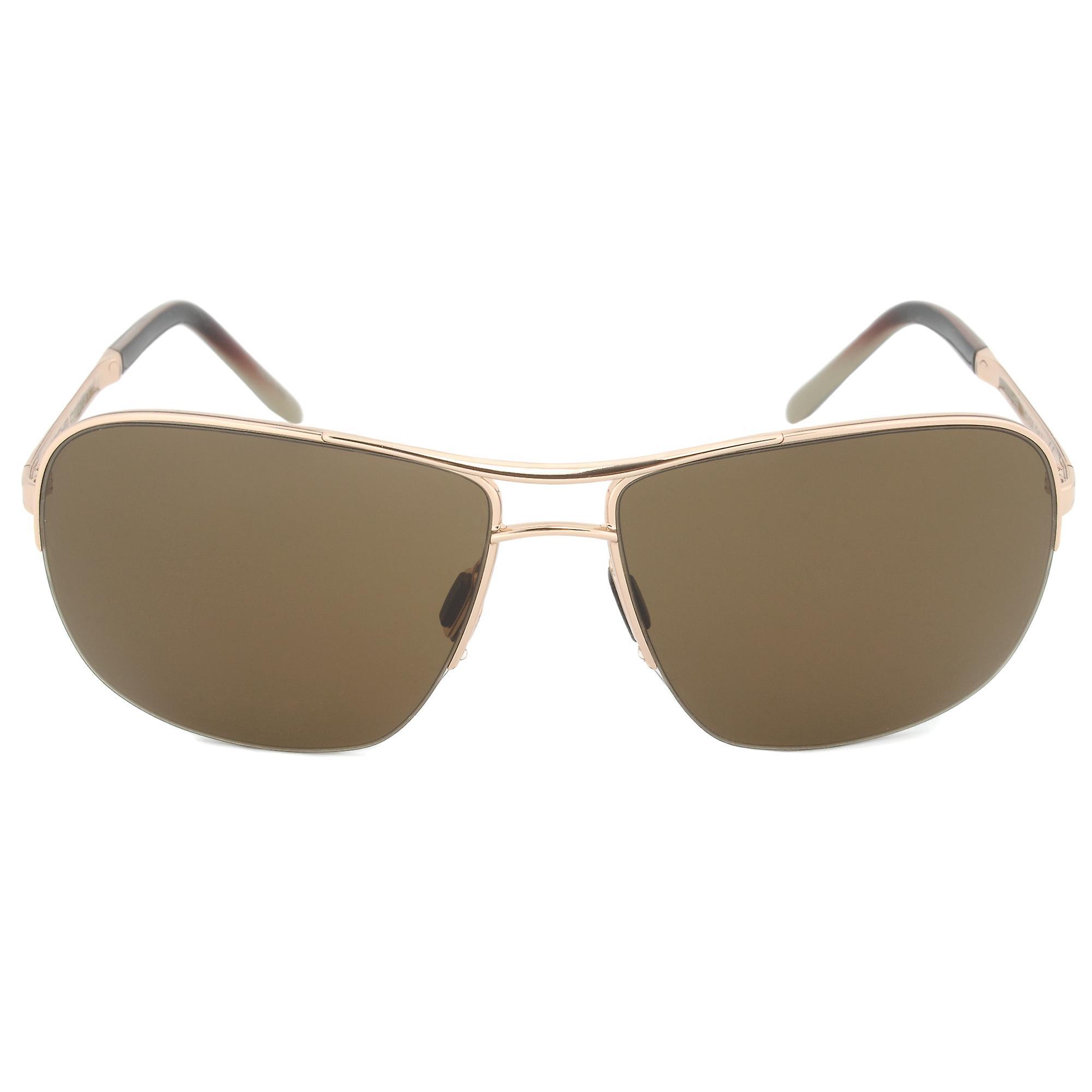 Porsche Design Design P8545 C Rectangular Sunglasses   or Frame   marron Lens