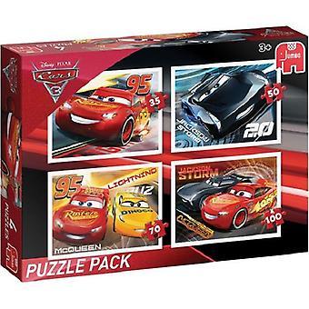 Jumbo jigsaw puzzle Disney Cars3 4 in 1