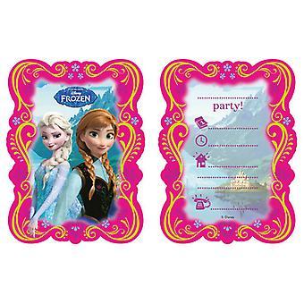 Disney frosset invitasjoner 6 PCer