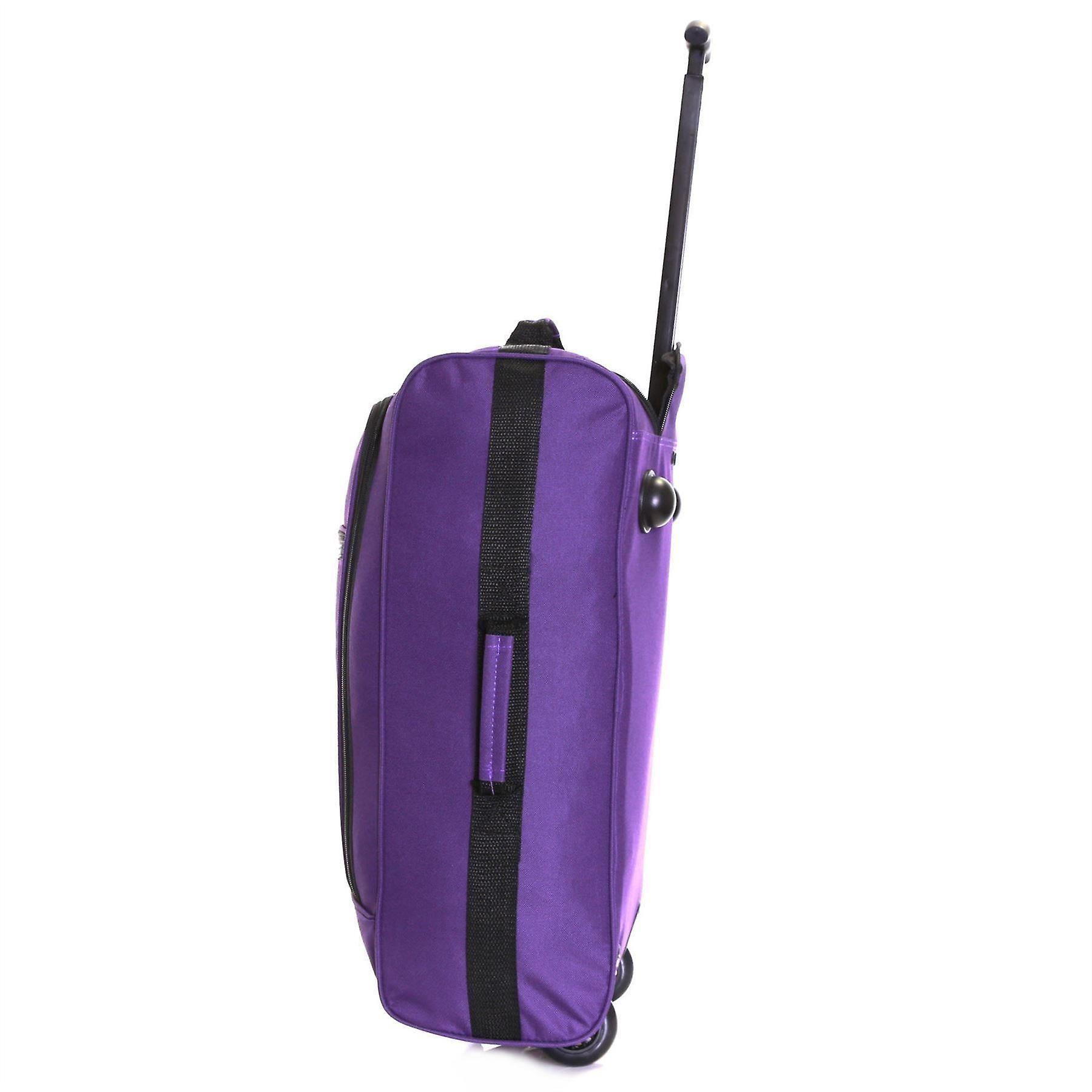 Slimbridge Montecorto Set of 2 Cabin Luggage Bags, (Set of Purple and Red Dots)