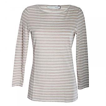 Oui Women's Long Sleeve Stripe Top