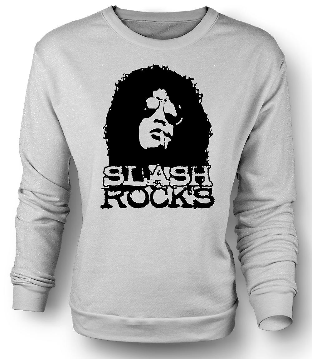 Mens Sweatshirt Slash Guitar Rock - Guns n Roses