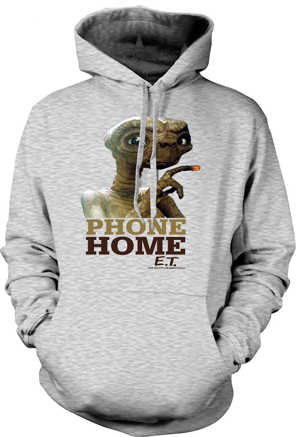 Mens Hoodie - ET Phone Home - Cute - Alien