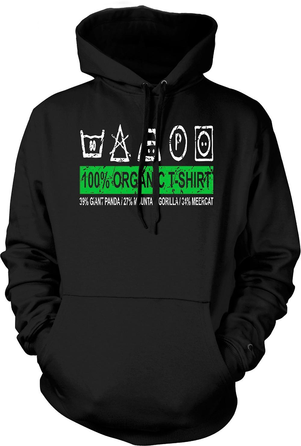 Mens Hoodie - 100% biologische T Shirt - 39% reuzenpanda