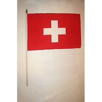 Switzerland Hand Held Flag