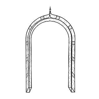 Arche arcade arceau à rosiers plante grimpante jardin noir 242 cm 2213010