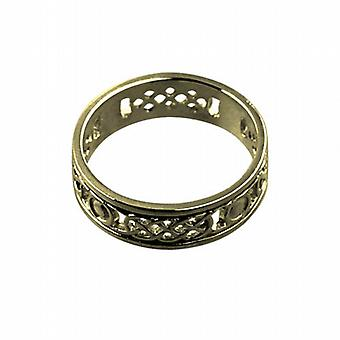 9ct Gold 8mm solid Celtic Wedding Ring Size R