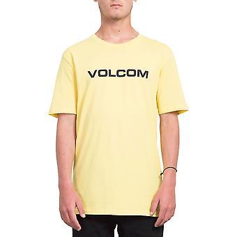 Volcom Men's T-Shirt ~ Crisp Euro yellow