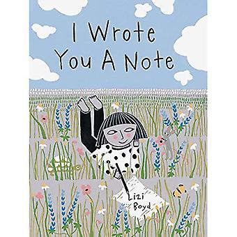Jag skrev du en anteckning