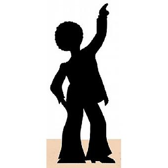 Disco Dancer (Silhouette) Cardboard Cutout