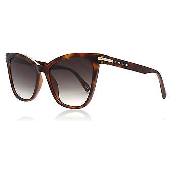 Marc Jacobs Marc223/S 581 Havana / Black Marc223/S Cats Eyes Sunglasses Lens Category 3 Size 54mm
