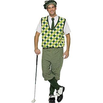 古いファッション ゴルファー大人用コスプレ衣装