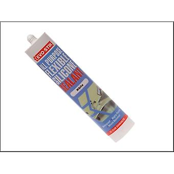 Evo-Stik 112902 All Purpose Flex Silicone Sealant White C20