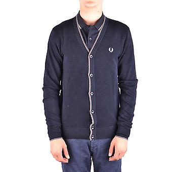 Fred Perry blå bomuld Cardigan