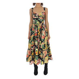 Dolce E Gabbana Multicolor Cotton Dress