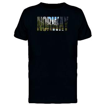Landscape On Norway Country Name Tee Men's -Image by Shutterstock