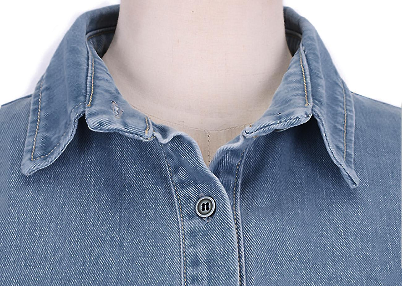 Short dress shirt style vintage denim Lidya