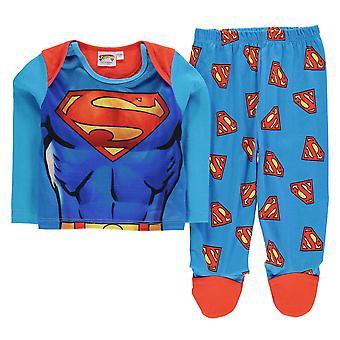 Carácter niños pijama conjunto bebé Unisex algodón manga larga superior para dormir fondos
