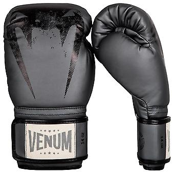 Venum Giant Haken und Flausch Sparring Training Boxhandschuhe - grau/schwarz