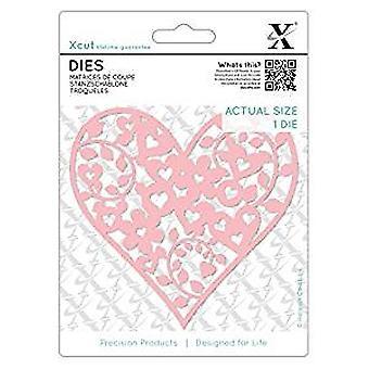 Xcut Dies bloemen Love hart (XCU 503441)
