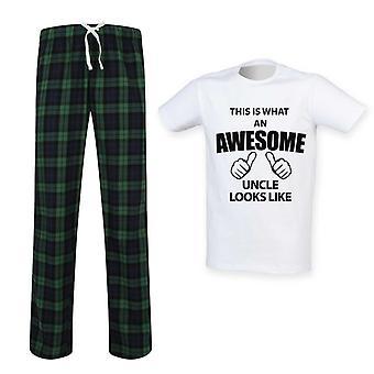 Mens c'est quoi un oncle génial ressemble ensemble Pyjama Tartan