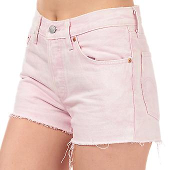 Womens Levi's 501 Shorts In Acid Light Lilac