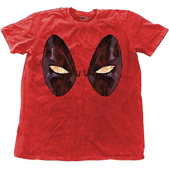 Men's Deadpool Eyes Snow Wash T-Shirt