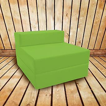 Water Resistant Fold Out Single Z Bed Sofa - Lime