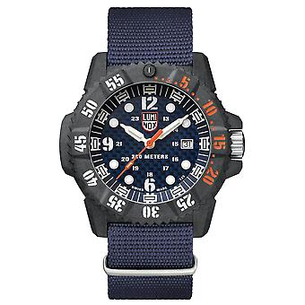 Luminox Master Carbon SEAL 3800 Series Blue Canvas Strap Men's Watch XS.3803.C