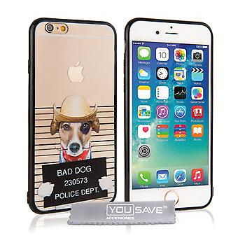 Yousave Accessories iPhone 6 and 6s Fun Case - Bad Dog Design