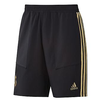2019-2020 Real Madrid Adidas Training Woven Shorts (Black) - Kids
