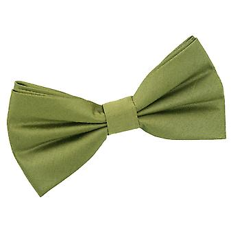 Olive Green shantung pre-bundet bow tie
