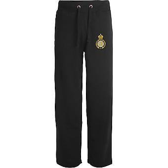2ème Life Guards - Licensed British Army Embroidered Open Hem Sweatpants / Jogging Bottoms