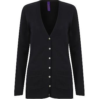 Henbury - Women's Ladies V-Button Cardigan