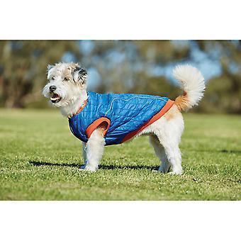 Weatherbeeta puffer hunde frakke-blå/flamme