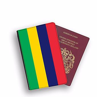 MAURITIUS Flag Passport Holder Style Case Cover Protective Wallet Flags design