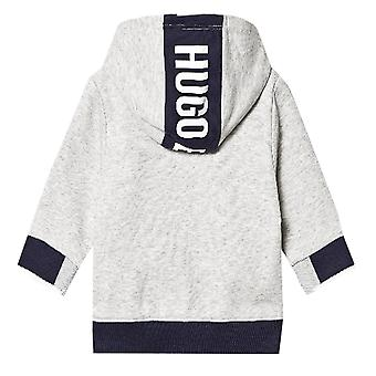 Hugo Boss Boys Infants Grey And Navy Hoodie