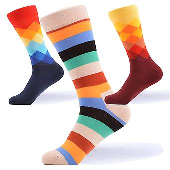 Men's bright patterned gift 3 pairs of socks