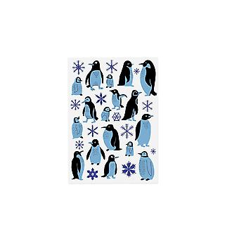 Ohh Deer Penguins And Snowflakes Postcard