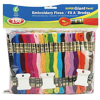 Embroidery Floss Super Giant Pack 8 Meters 150 Pkg Assorted 1270