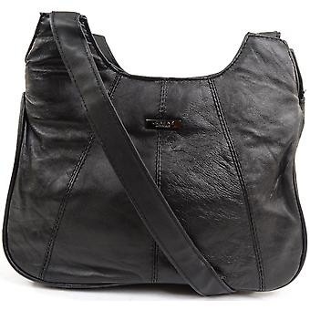 Ladies / Womens Soft Nappa Leather Evening Handbag / Shoulder Bag